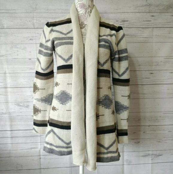 BB Dakota Sweaters - BB Dakota Cardigan Sweater Open Front Wool Blend